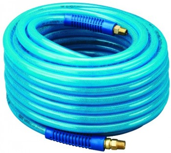 Amflo-13-100AE-Blue-300-PSI-Polyurethane-Air-Hose-38-x-100-With-14-MNPT-Swivel-Ends-And-Bend-Restrictor-Fittings-0