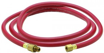 Amflo-37L-72DB-Red-300-PSI-Rubber-Lead-in-Air-Hose-38-x-72-With-14-MNPT-x-14-FNPT-Fittings-Bend-Restrictors-And-Ball-Swivel-0
