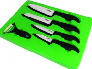 Bundle-Monster-Complete-Series-9-piece-Ceramic-Cutlery-Knives-Set-6-Chefs-6-Santoku-4-Utility-3-Paring-and-1-Peeler-White-Knife-Blade-and-Sheath-0-2