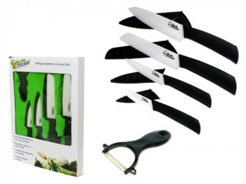 Bundle-Monster-Complete-Series-9-piece-Ceramic-Cutlery-Knives-Set-6-Chefs-6-Santoku-4-Utility-3-Paring-and-1-Peeler-White-Knife-Blade-and-Sheath-0