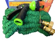 BunnyK-Expandable-Garden-Water-Hose-Green-New-Brass-Fittings-75-Ft-Free-Nozzle-0