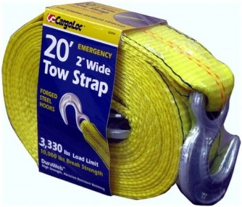 CargoLoc-82494-2-Inch-by-20-Feet-Emergency-Tow-Strap-with-Hooks-0