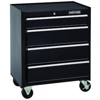 Craftsman-26-In-4-drawer-Heavy-duty-Ball-Bearing-Rolling-Cabinet-Black-0