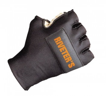 Decade-49452-Riveters-Half-Finger-Right-Hand-Glove-with-Gfom-Black-Large-XXLarge-0