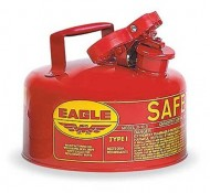 Eagle-UI-10-S-Red-Galvanized-Steel-Type-I-Gas-Safety-Can-1-gallon-Capacity-8-Height-9-Diameter-0