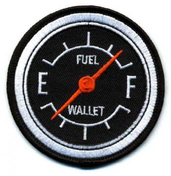 Embroidered-Iron-On-Patch-Fuel-Gauge-Full-Tank-Empty-Wallet-3-Patch-0