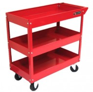 Excel-TC301A-Red-3-Tray-Rolling-Metal-Tool-Cart-Red-0-0