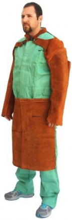 Forney-57202-Welding-Apron-Flame-Retardant-Brown-Leather-0