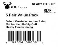 G-F-5015L-5-Regular-Cowhide-Leather-Palm-Gloves-with-rubberized-safety-cuff-Large-5-Pair-pack-0-0