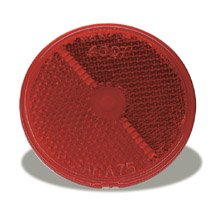 Grote-40072-25-Red-Round-Stick-On-Reflector-0