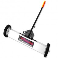 Heavy-Duty-24-Magnetic-Sweeper-for-Concrete-Carpet-or-Grass-Quick-Release-Adjustable-Sweep-Height-0