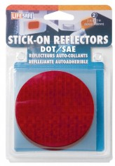 Incom-RE7074-3-Inch-Stick-On-Reflector-Circle-Red-2-Count-0