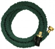 Jhose-Expandable-Green-Water-Hose-50-feet-Expanded-Length-164-Compressed-Length-34-GHT-Brass-Connectors-for-Durability-0