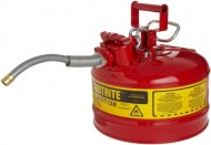 Justrite-AccuFlow-7225120-Type-II-Galvanized-Steel-Safety-Can-with-58-Flexible-Spout-25-Gallons-Capacity-Red-0