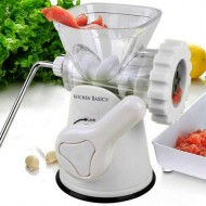 Kitchen-Basics-3-In-1-Hand-Crank-Manual-Meat-Grinder-and-Vegetable-GrinderMincer-with-Stainless-Steel-Blades–3-Size-Sausage-Stuffer–Pasta-Maker-Quickly-Easily-Grind-Meat-Create-Sausages-and-Pasta-At-0