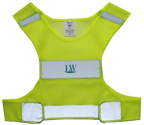 lw reflective safety vest for running cycling walking yellow lightweight small medium. Black Bedroom Furniture Sets. Home Design Ideas