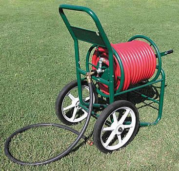 liberty garden products 1180 2 industrial 150 foot capacity two wheel garden hose reel cart