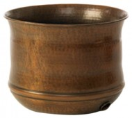Liberty-Garden-Products-1904-Hammered-Copper-Garden-Hose-Pot-Aged-Copper-0-0