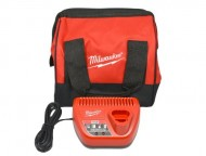 Milwaukee-M12-Charger-and-Heavy-Duty-Contractors-Bag-11x11x10-4-Pocket-0