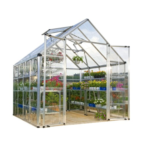 Palram-Snap-and-Grow-8-by-8-Feet-Greenhouse-Silver-0