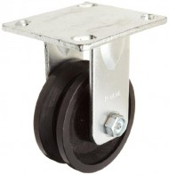RWM-Casters-40-Series-Plate-Caster-Rigid-V-Groove-Iron-Wheel-Roller-Bearing-700-lbs-Capacity-4-Wheel-Dia-1-12-Wheel-Width-5-58-Mount-Height-4-12-Plate-Length-4-Plate-Width-0