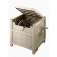 Suncast-100-Foot-Capacity-Garden-Hose-Reel-Hideaway-with-Hose-Guide-Taupe-PHT100-0