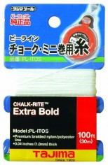 Tajima-PL-ITOS-Chalk-Rite-Premium-Grade-Ultra-Thin-Nylon-Line-05-mm-Thick-by-100-Feet-0