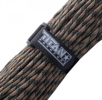 Titan-Paracords-Authentic-Military-550-Cord-wVelcro-Fastener--FOREST-CAMO--100-FEET-0