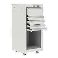 Viper-Tool-Storage-V1804WHR-18-Inch-4-Drawer-18G-Steel-Rolling-ToolSalon-Cart-White-0