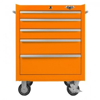 Viper-Tool-Storage-V2605ORR-26-Inch-5-Drawer-18G-Steel-Rolling-Tool-Cabinet-Orange-0