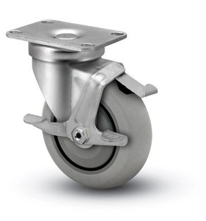3-12-Swivel-Caster-with-Brake-Extra-Soft-Round-Tread-Wheel-0