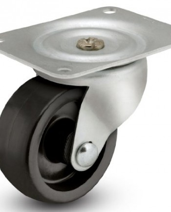 Albion-01-Series-3-Diameter-Polyolefin-Wheel-Light-Duty-Swivel-Caster-Plain-Bore-4-18-Length-X-3-18-Width-Plate-210lbs-Capacity-Pack-of-4-0