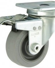 Albion-02-Series-3-Diameter-X-tra-Soft-Rubber-Flat-Tread-Wheel-Light-Duty-Institutional-Swivel-Caster-with-Total-Lock-Annular-Ball-Bearing-3-58-Length-X-2-12-Width-Plate-200lbs-Capacity-Pack-of-4-0