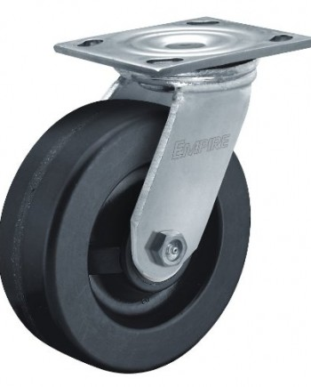 Albion-11-Series-8-Diameter-Phenolic-Wheel-Empire-Medium-Heavy-Duty-Swivel-Caster-Roller-Bearing-4-12-Length-X-4-Width-Plate-1200lbs-Capacity-Pack-of-2-0