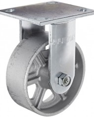 Albion-16-Series-5-Diameter-Cast-Iron-Wheel-Medium-Heavy-Duty-Zinc-Plate-Rigid-Caster-Roller-Bearing-4-12-Length-X-4-Width-Plate-1250-lbs-Capacity-Pack-of-4-0