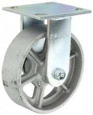 Albion-16-Series-6-Diameter-Cast-Iron-Wheel-Medium-Heavy-Duty-Zinc-Plate-Rigid-Caster-Roller-Bearing-4-12-Length-X-4-Width-Plate-1250-lbs-Capacity-Pack-of-4-0