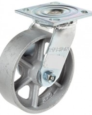 Albion-16-Series-6-Diameter-Cast-Iron-Wheel-Medium-Heavy-Duty-Zinc-Plate-Swivel-Caster-Roller-Bearing-4-12-Length-X-4-Width-Plate-1250-lbs-Capacity-Pack-of-4-0