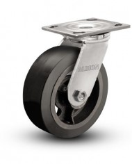 Albion-16-Series-Industrial-Medium-Duty-Caster-8-x-2-Mold-On-Rubber-on-Iron-Wheel-Swivel-Caster-0