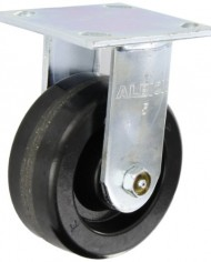 Albion-16-Series-Medium-Heavy-Duty-Zinc-Rigid-Plate-Caster-Roller-Bearing-5-Diameter-Phenolic-Wheel-4-12-Length-x-4-Width-Plate-1000-lbs-Capacity-0