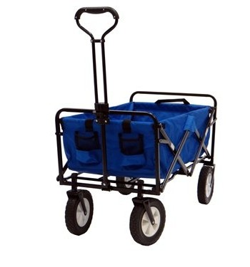 Blue-Mac-Sports-Collapsible-Folding-Utility-Wagon-Garden-Cart-Shopping-Beach-0