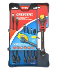 Crescent-CX6RWS7-Combination-Wrench-Set-with-Ratcheting-Open-End-and-Static-Box-End-7-Piece-0
