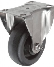 ER-Wagner-Plate-Caster-Rigid-Polyurethane-on-Polyolefin-Wheel-Stainless-Steel-Plate-Delrin-Bearing-275-lbs-Capacity-4-Wheel-Dia-1-14-Wheel-Width-5-116-Mount-Height-3-58-Plate-Length-2-58-Plate-Width-0-0