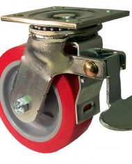 ER-Wagner-Plate-Caster-Swivel-with-Total-Lock-Brake-Polyurethane-on-Polyolefin-Wheel-Roller-Bearing-750-lbs-Capacity-5-Wheel-Dia-2-Wheel-Width-6-12-Mount-Height-4-12-Plate-Length-4-Plate-Width-0