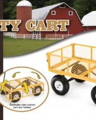 Farm-Ranch-FR1245-2-Steel-Utility-Cart-with-Removable-Folding-Sides-and-10-Inch-Pneumatic-Tires-900-Pound-Capacity-34-Inches-by-215-Inches-Yellow-Finish-0-0