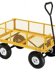 Farm-Ranch-FR1245-2-Steel-Utility-Cart-with-Removable-Folding-Sides-and-10-Inch-Pneumatic-Tires-900-Pound-Capacity-34-Inches-by-215-Inches-Yellow-Finish-0