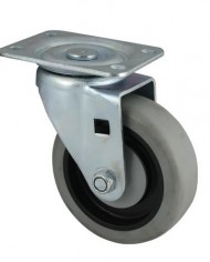 Faultless-Series-400-7700-Caster-3-x-1-14-Thermoplastic-Rubber-on-Plastic-Wheel-Swivel-490-3TG-0