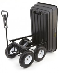 Gorilla-Carts-GOR108D-14-Poly-Garden-Dump-Cart-with-2-in-1-Convertible-Handle-1000-Pound-Capacity-415-Inch-by-225-Inch-Bed-Black-Finish-0-0