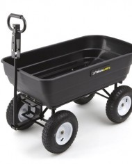 Gorilla-Carts-GOR108D-14-Poly-Garden-Dump-Cart-with-2-in-1-Convertible-Handle-1000-Pound-Capacity-415-Inch-by-225-Inch-Bed-Black-Finish-0