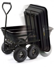 Gorilla-Carts-GOR200B-Poly-Garden-Dump-Cart-with-Steel-Frame-and-10-Inch-Pneumatic-Tires-600-Pound-Capacity-36-Inch-by-20-Inch-Bed-Black-Finish-0-0