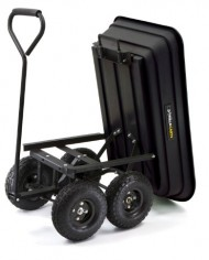 Gorilla-Carts-GOR200B-Poly-Garden-Dump-Cart-with-Steel-Frame-and-10-Inch-Pneumatic-Tires-600-Pound-Capacity-36-Inch-by-20-Inch-Bed-Black-Finish-0-1